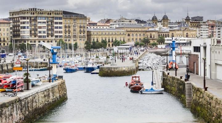 Haven in San Sebastián, Spanje