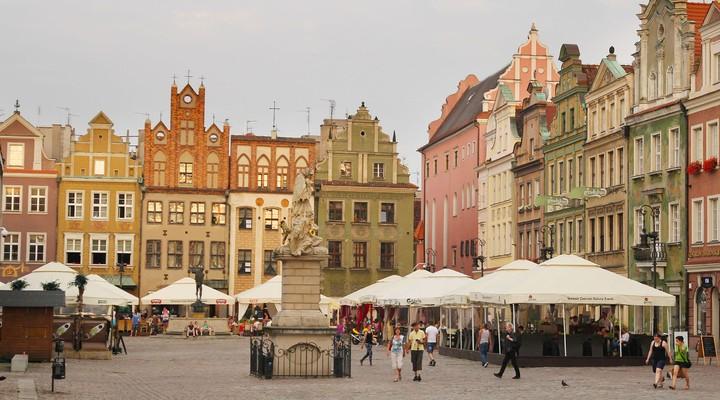 Centrale plein in Poznan, Oude markt, Polen