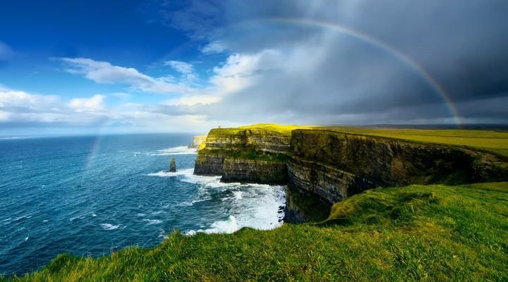 Cliffs of Moher met regenboog