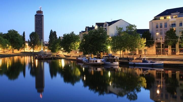 De stad Nantes in Pays de la Loire
