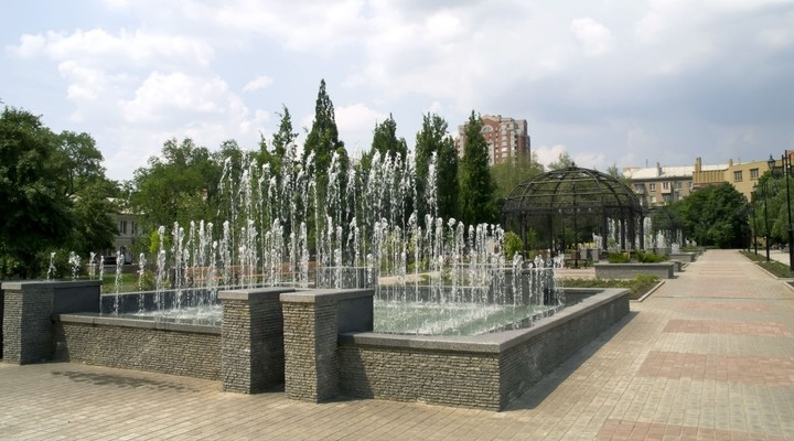 Fonteinen Donetsk, Oekraine