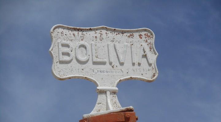 De grens tussen Chili en Bolivia