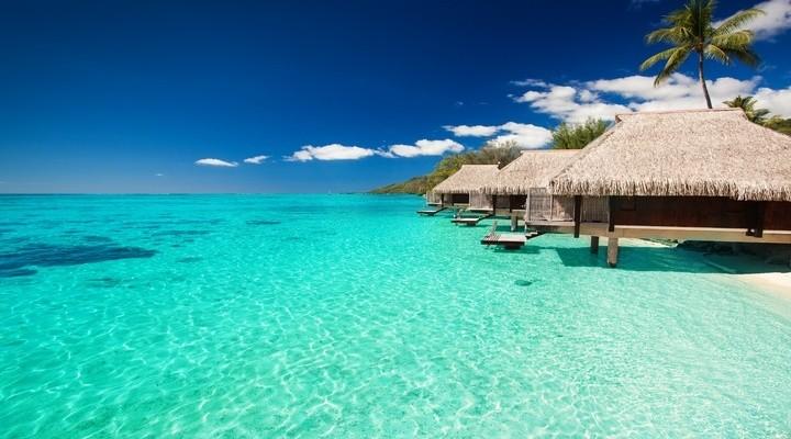Huisjes op de Malediven