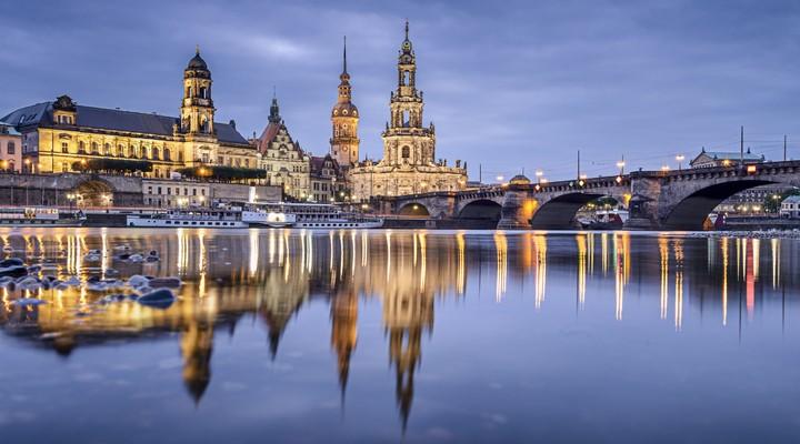 De stad Dresden