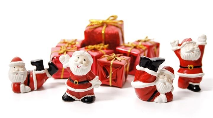 Kerstmannen en cadeautjes