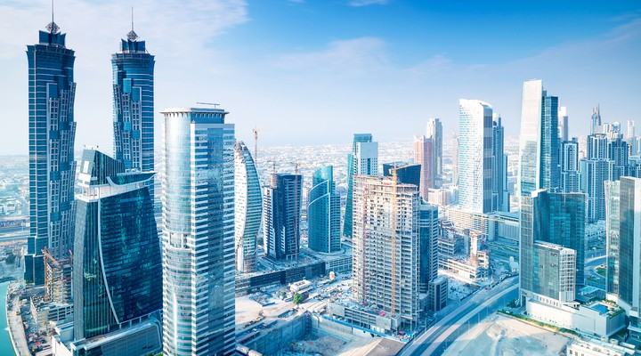 Wolkenkrabbers in Dubai
