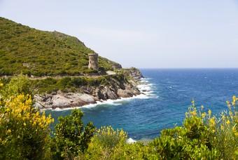 Landschap Corsica, Frankrijk kamperen