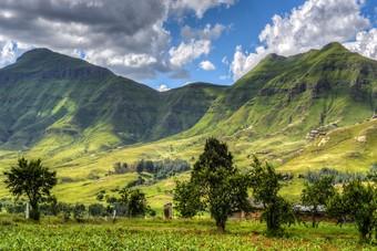 Mooi uitzicht in Lesotho