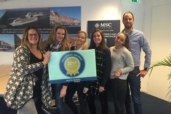 MSC Cruises wint Reisgraag Award 2017