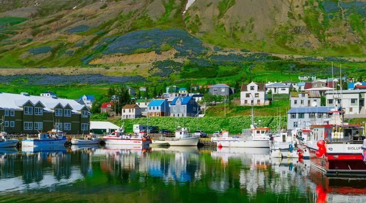 De haven in Siglufjordur