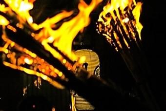 Fakkels bij het Kurama Fire Festival