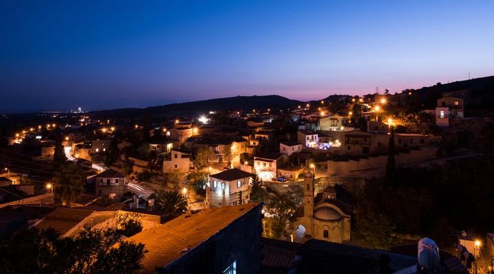 Het plaatsje Tochni in Cyprus