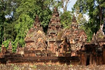 Banteay Srei, historische tempel in Cambodja