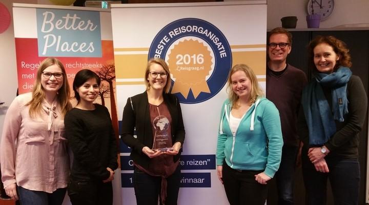 Better Places neemt award in ontvangst