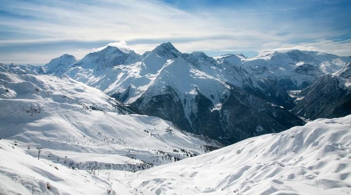 Wintersportgebied in Frankrijk