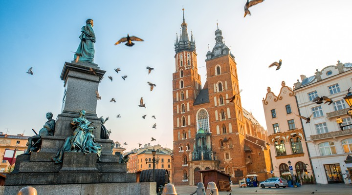 Het oude centrum van Krakau