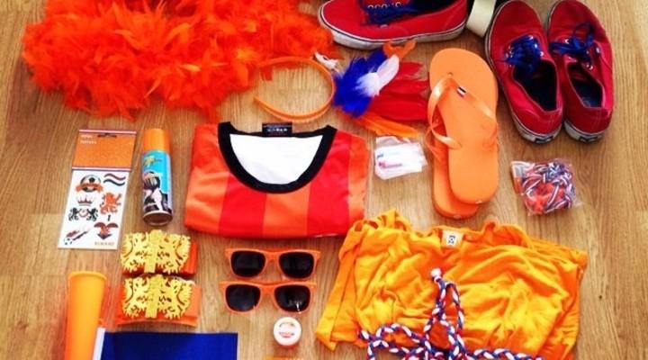 Voorbereiding voor oranje kleding