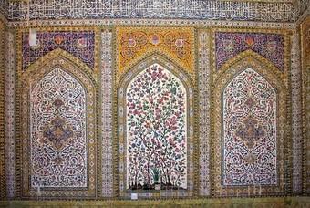 Muur in Moskee Iran