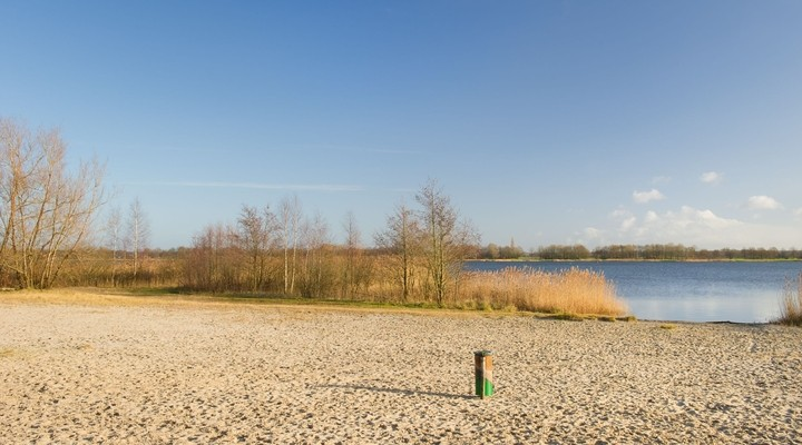 Zandstrand Wolderwijd, Flevoland