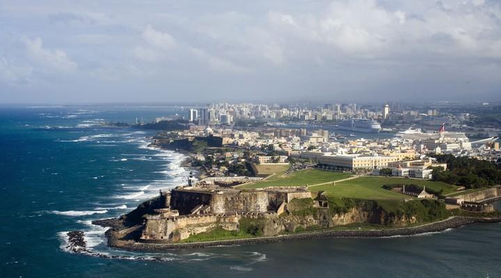 Luchtfoto van El Morro in Old San Juan