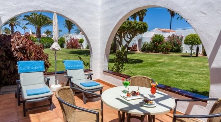 het terras van bungalow
