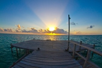 Zonsondergang in Belize