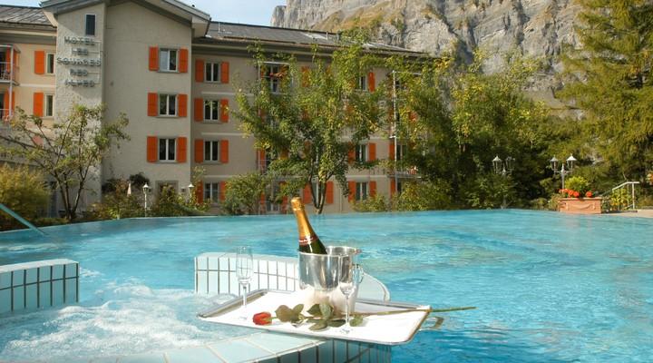 Hotelzwembad in Leukerbad