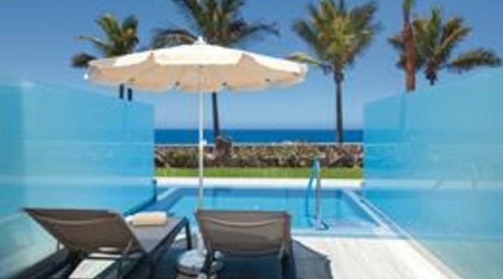 het terras met privézwembad van 2-persoonskamer, Suite met privé zwembad, Adults o