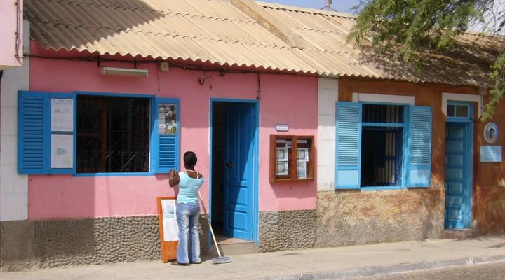Een huisje op Brava in Kaapverdië