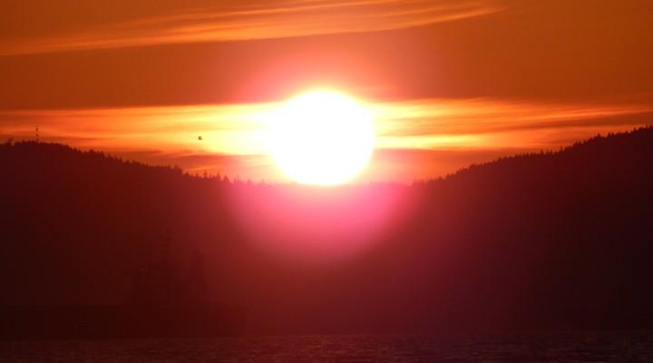 Zonsondergang in Vancouver