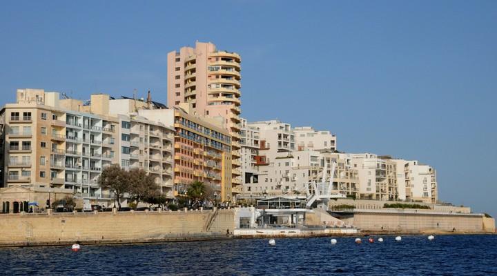 Sliema gezien vanaf het water, Malta