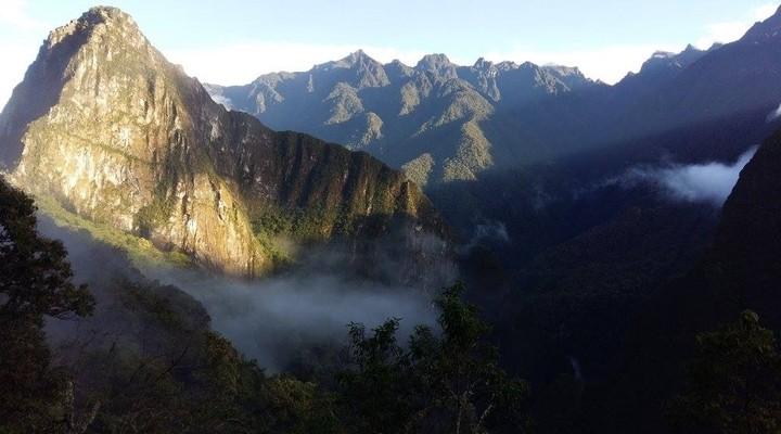 Het uitzicht onderweg naar Machu Picchu