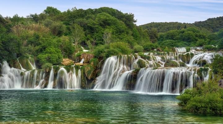 watervallen in Plitvice meren gebied