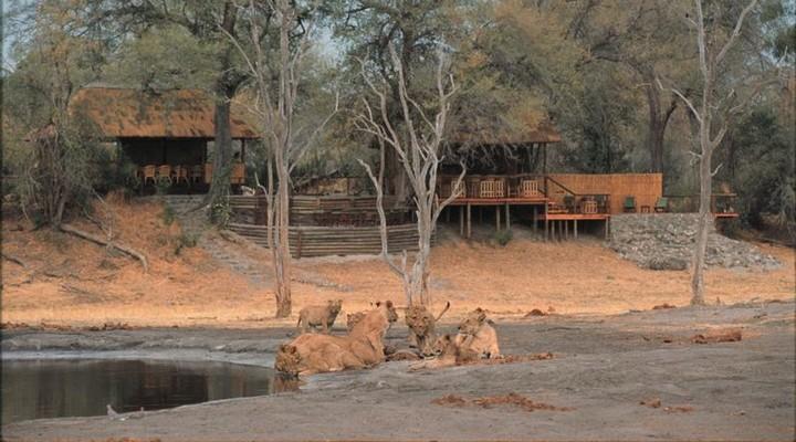 een campsite in Botswana
