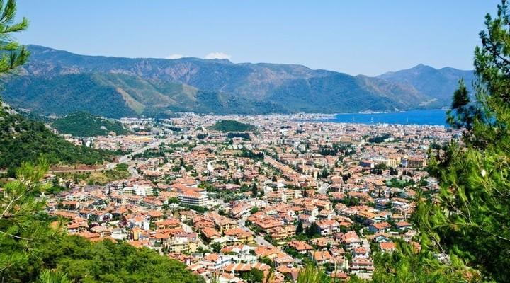 De stad Marmaris en de omgeving