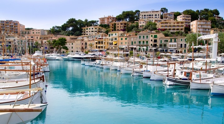 Havenstad op Mallorca