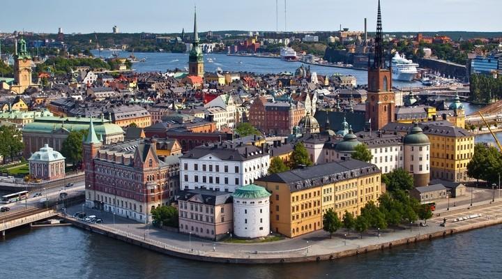 Panorama Stockholm vanaf het stadhuis