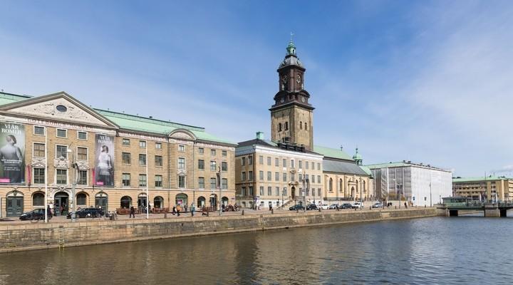 Stadsmuseum en kerk in Goteborg - Zweden