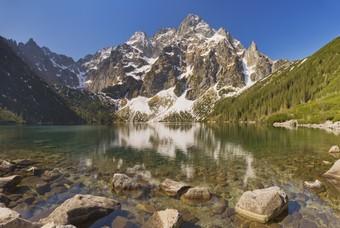 Morskie Oko meer in Tatra Nationaal Park