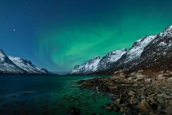 Noorderlicht, Aurora Borealis, Noorse fjorden