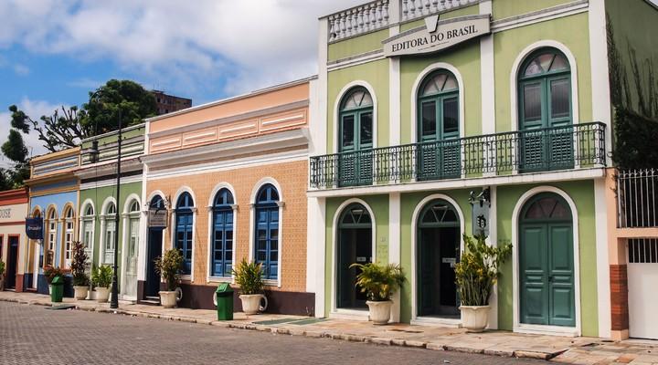 Centrale plein in de oude stad van Manaus