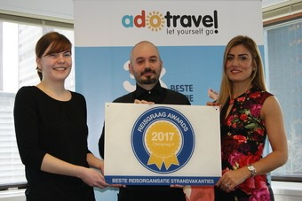 ADO Travel wint Reisgraag Award 2017