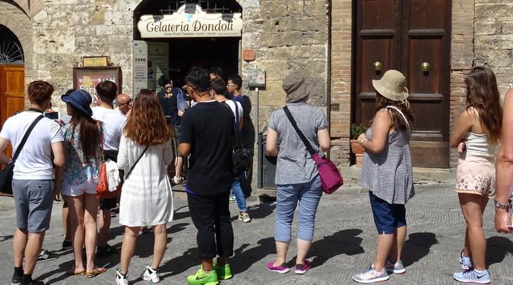 Gelateria Dondoli in San Gimignano