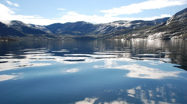 Waterrijk landschap Groenland