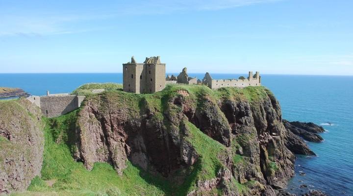 Dunnottar Castle aan het water, Schotland