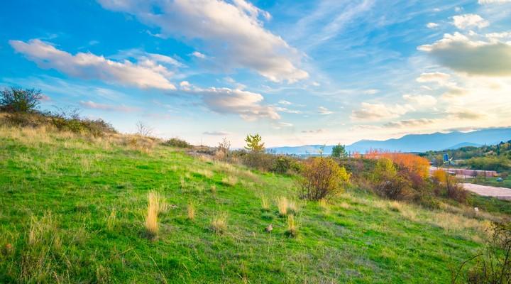 De glooiende heuvels van Oost-Macedonië
