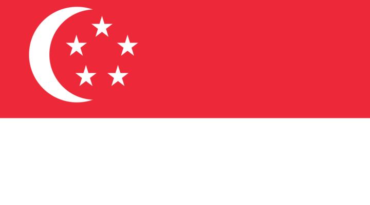 Huidige staatsvlag van Singapore