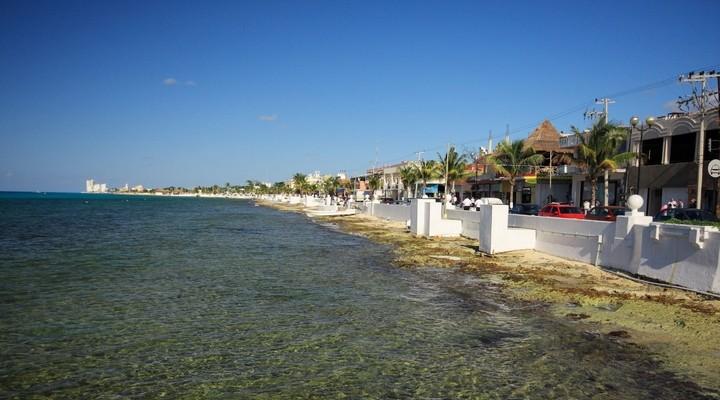 Heldere water van Cozumel, Mexico