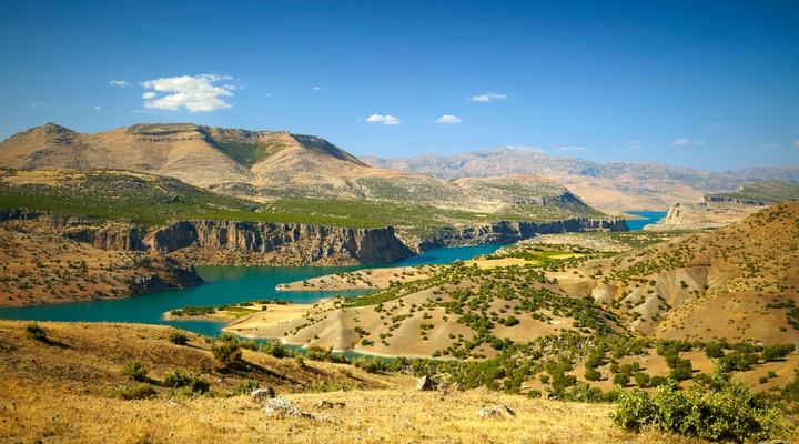 Canyon van de Eufraat rivier, Oost-Turkije