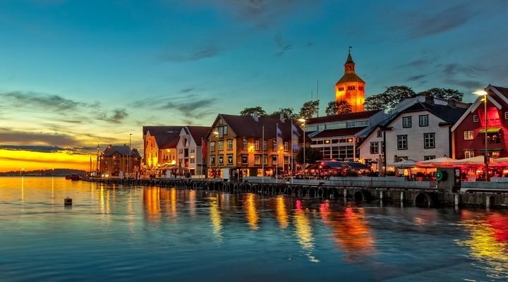 Skyline Stavanger, stad in Noorwegen